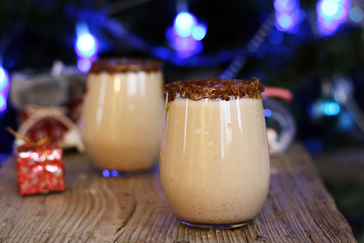 how to make vegan eggnog recipe lichior de oua reteta