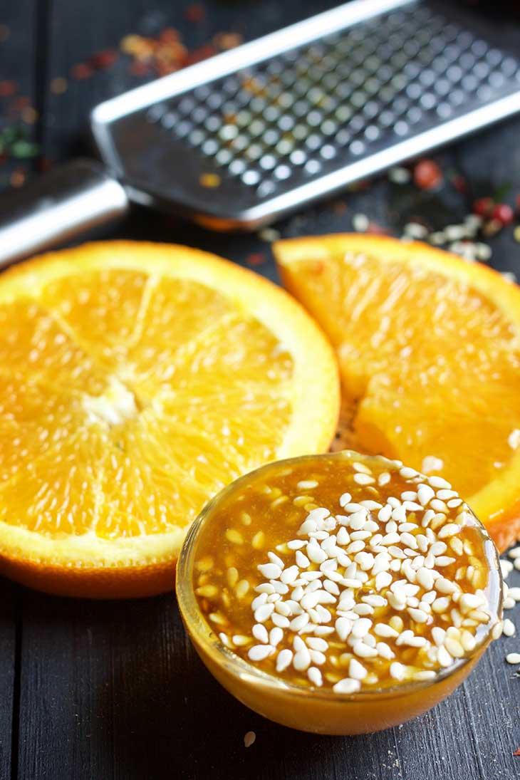 Orange sesame stir fry sauce sos de portocala si susan
