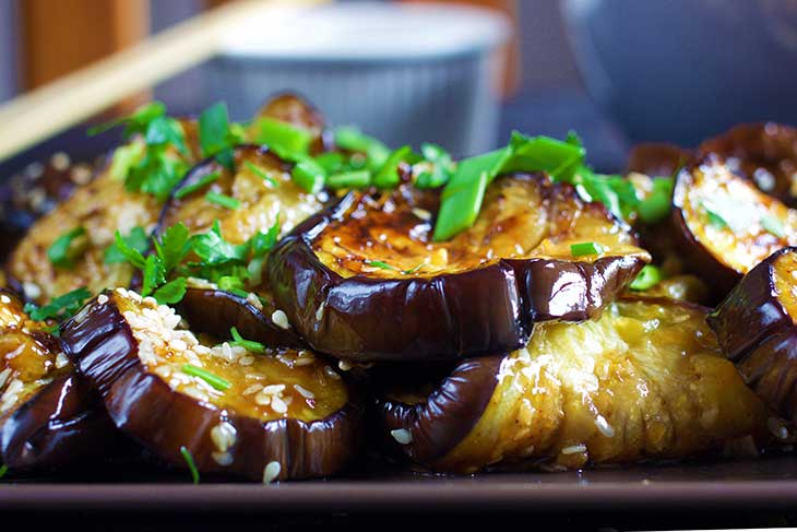 asian chinese eggplant with garlic sauce