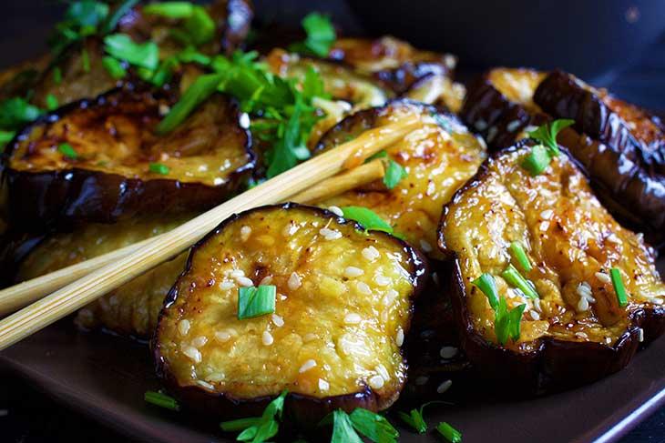 vinete chinezesti cu sos de usturoi reteta