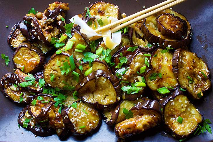 Chinese eggplant with garlic sauce gourmandelle recipe for chinese eggplant with garlic sauce forumfinder Images