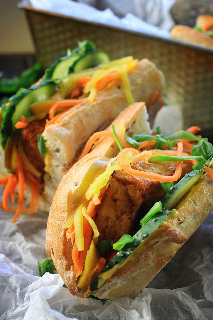 recipe tofu banh mi vegan