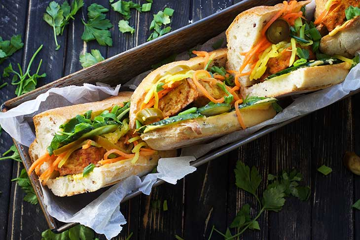 recipe tofu banh mi vegan diet