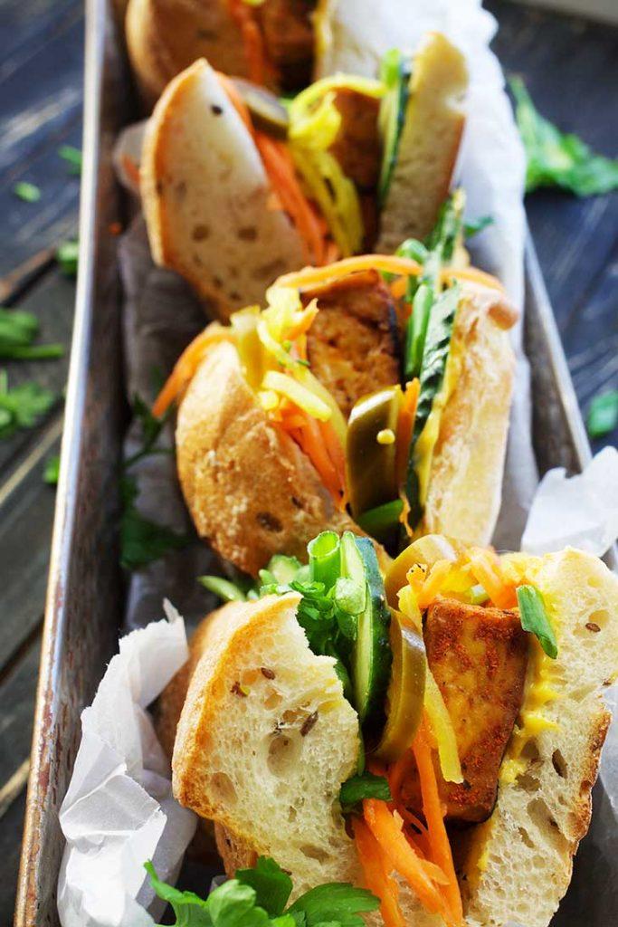 sandwich recipe tofu banh mi vegan cu tofu sandvis