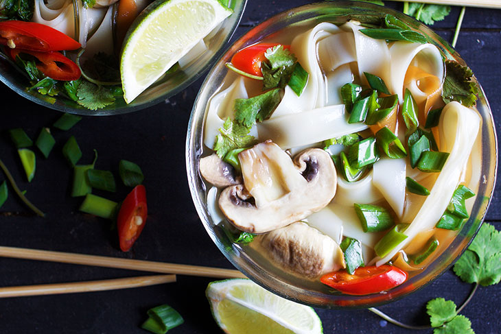 vegan pho asian chinese noodle soup
