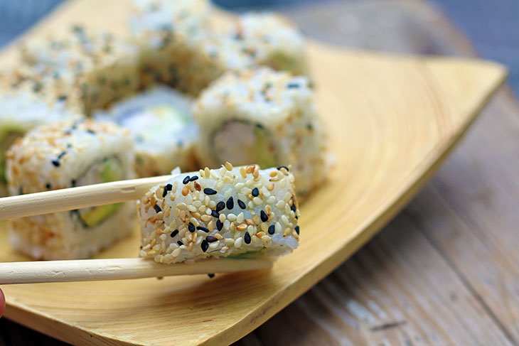 vegan california roll uramaki tofu sushi recipe