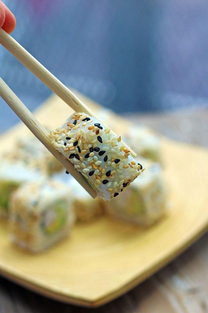 vegan californian maki tofu sushi vegan cu tofu avocado