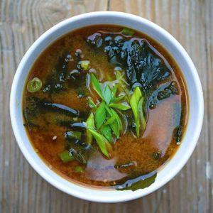 vegan miso soup supa miso vegana
