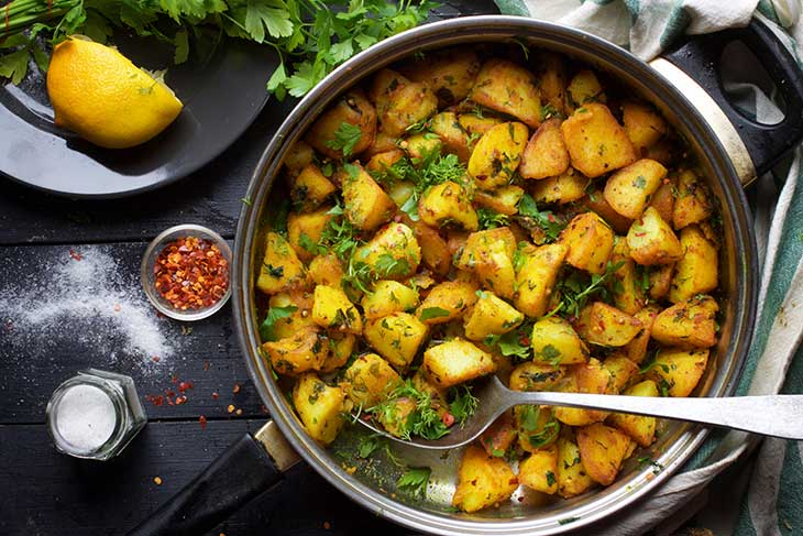 Batata Harra Spicy Roasted Potatoes Healthy Potato Recipes