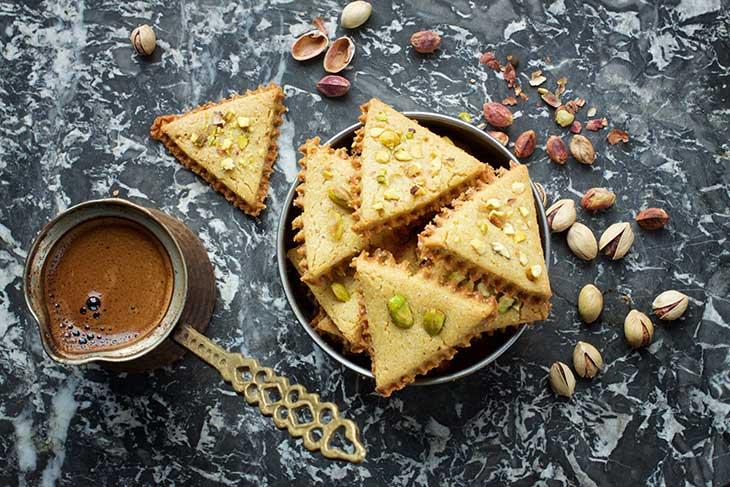 chickpea cookies pistachios biscuiti de naut cu fistic