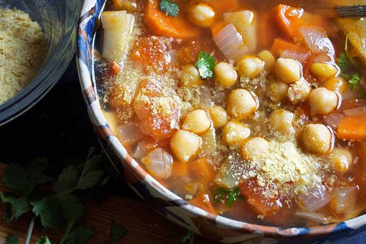 lebanese chickpea soup supa cu naut