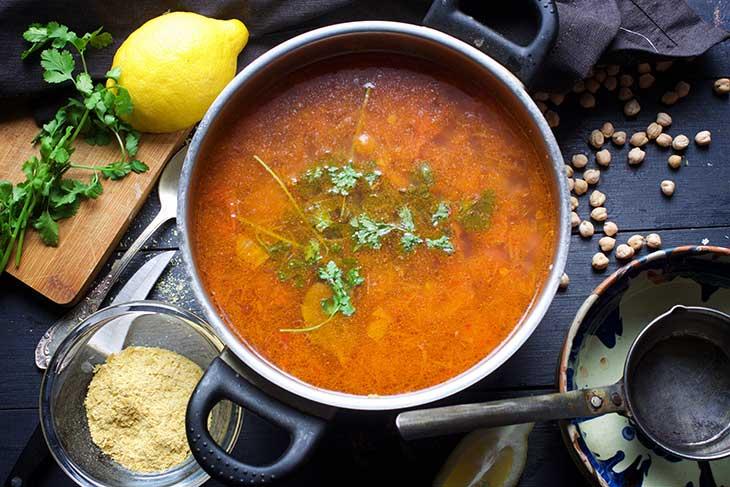 lebanese chickpea soup supa libaneza cu naut