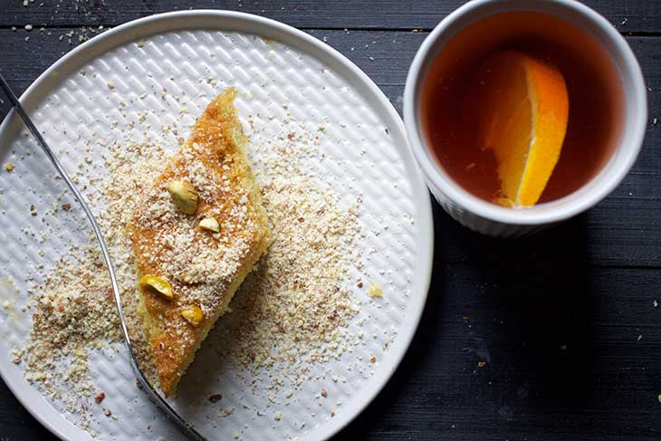 semolina cake egyptian basbousa recipe
