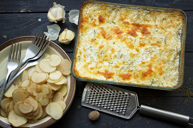 Vegan Scalloped Potatoes Pommes Dauphinoise french cuisine