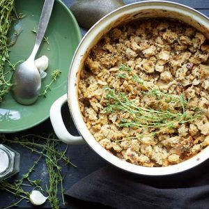 Vegetarian Cassoulet Slow-cooked White Bean Casserole stew
