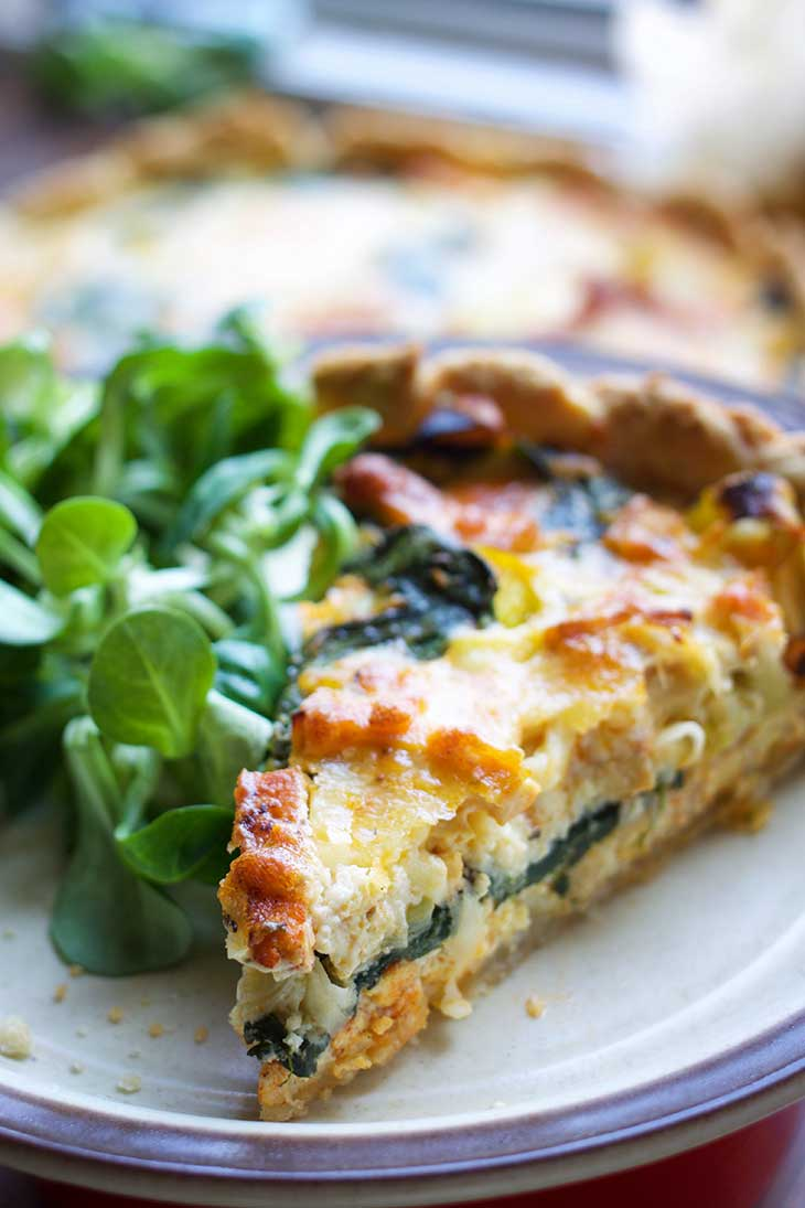 easy vegan quiche lorraine for Breakfast Meal Prep