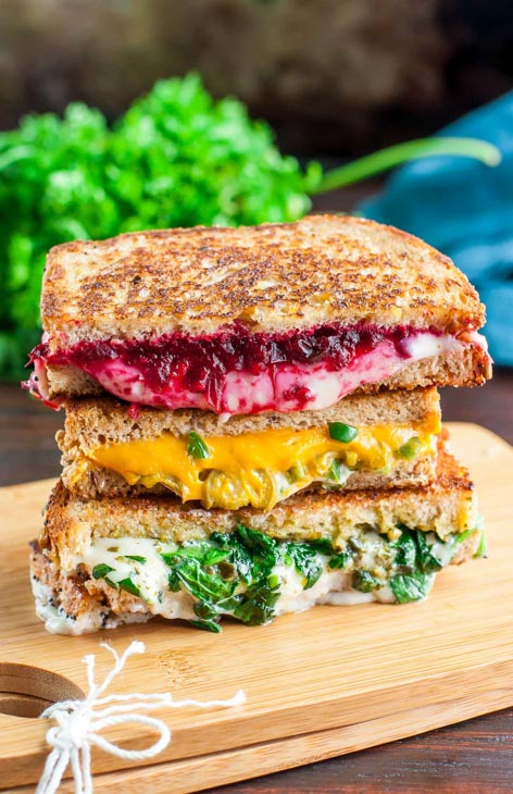 vegan grilled cheese sandwiches three ways