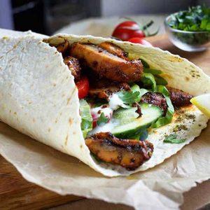 portobello wrap Shawarma recipe reteta saorma vegana