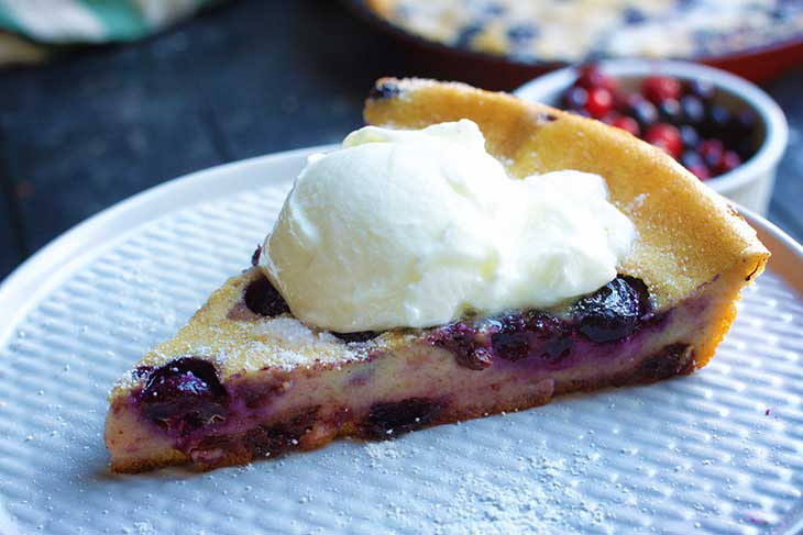 recipe Vegan Blueberry Clafoutis cu afine