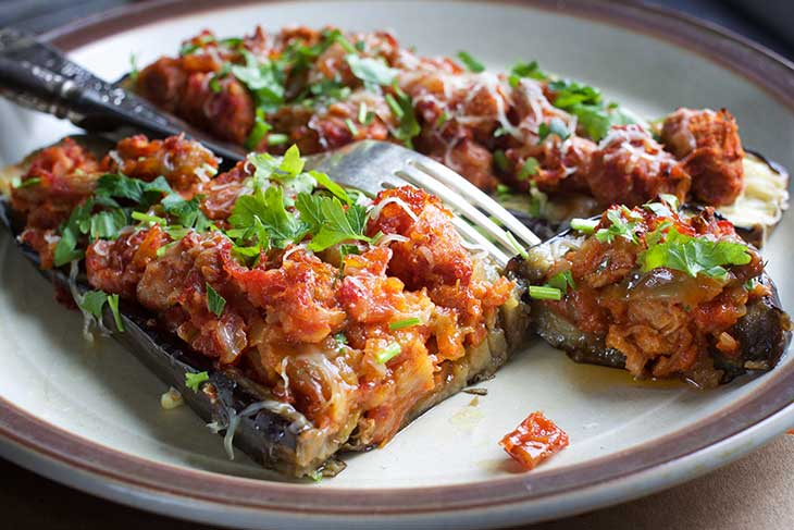 vegan imam bayildi turkish stuffed eggplants recipe