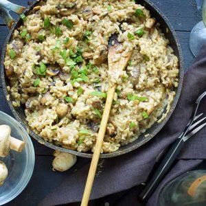 vegan mushroom risotto cu ciuperci reteta