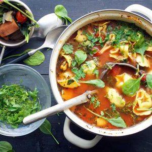 vegan tortellini soup recipe supa cu tortellini reteta