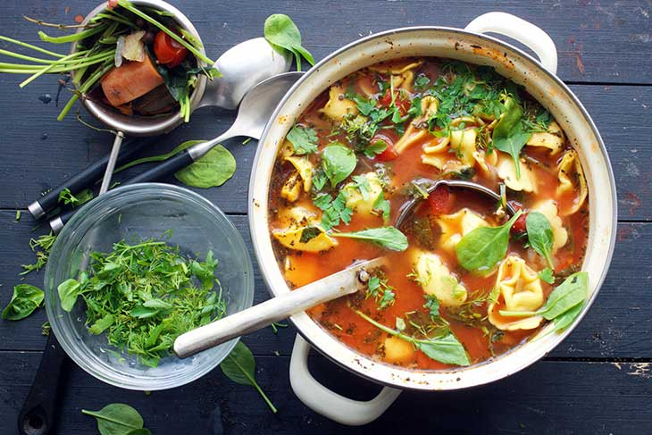 vegan tortellini soup italian cuisine