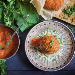 Vegan Arancini Fried Rice Balls recipe
