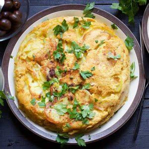 Vegan Potato Tortilla cu cartofi reteta spaniola