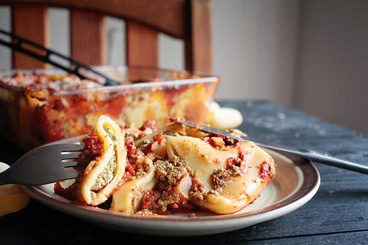 Vegan Stuffed Pasta Casserole