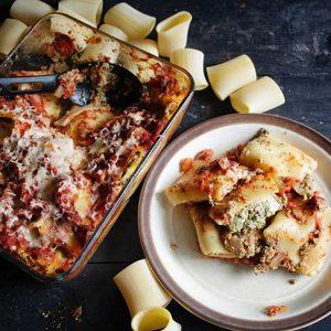 Vegan Stuffed Pasta Casserole recipe Paste umplute la cuptor