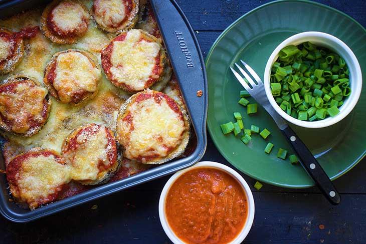vegan eggplant parmesan vinete parmigiana reteta