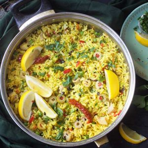 vegan paella recipe