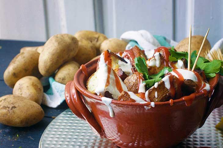 vegan patatas bravas recipe spanish tapas