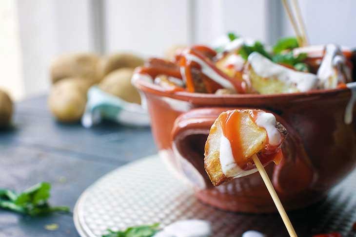 vegan spanish patatas bravas