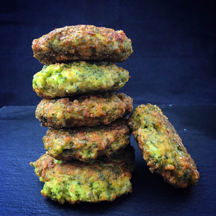 Vegan Cheezy Broccoli Fritters