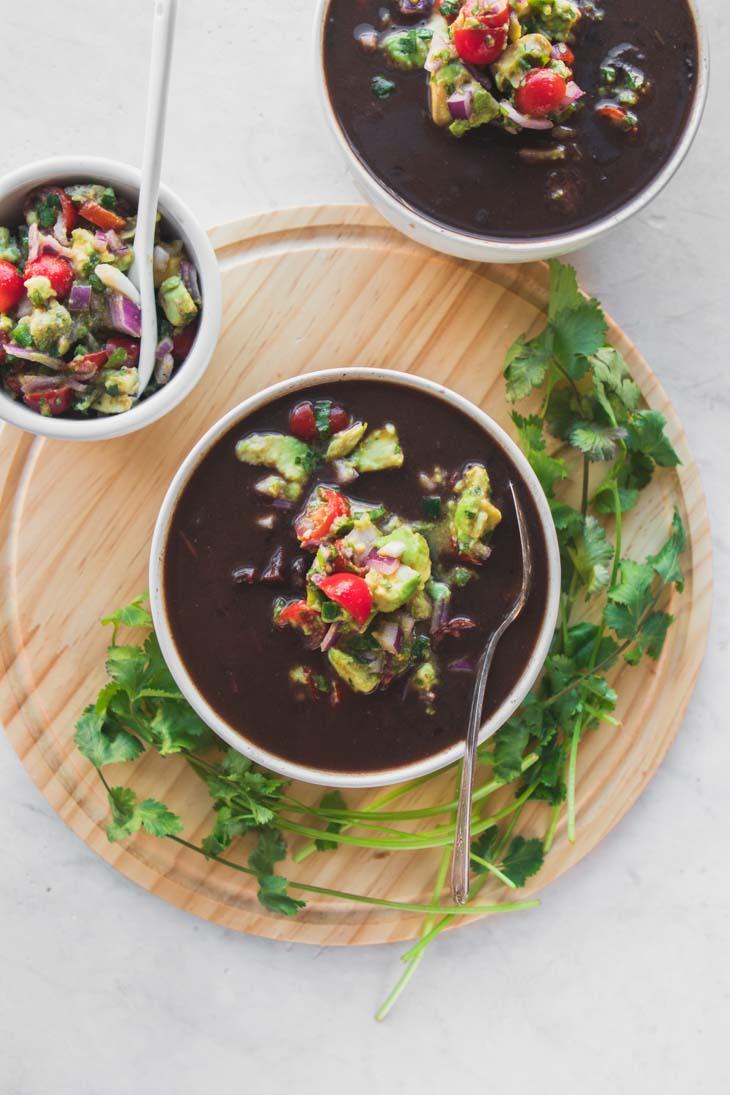 Instant Pot Black Bean Soup (10 Ingredients!)