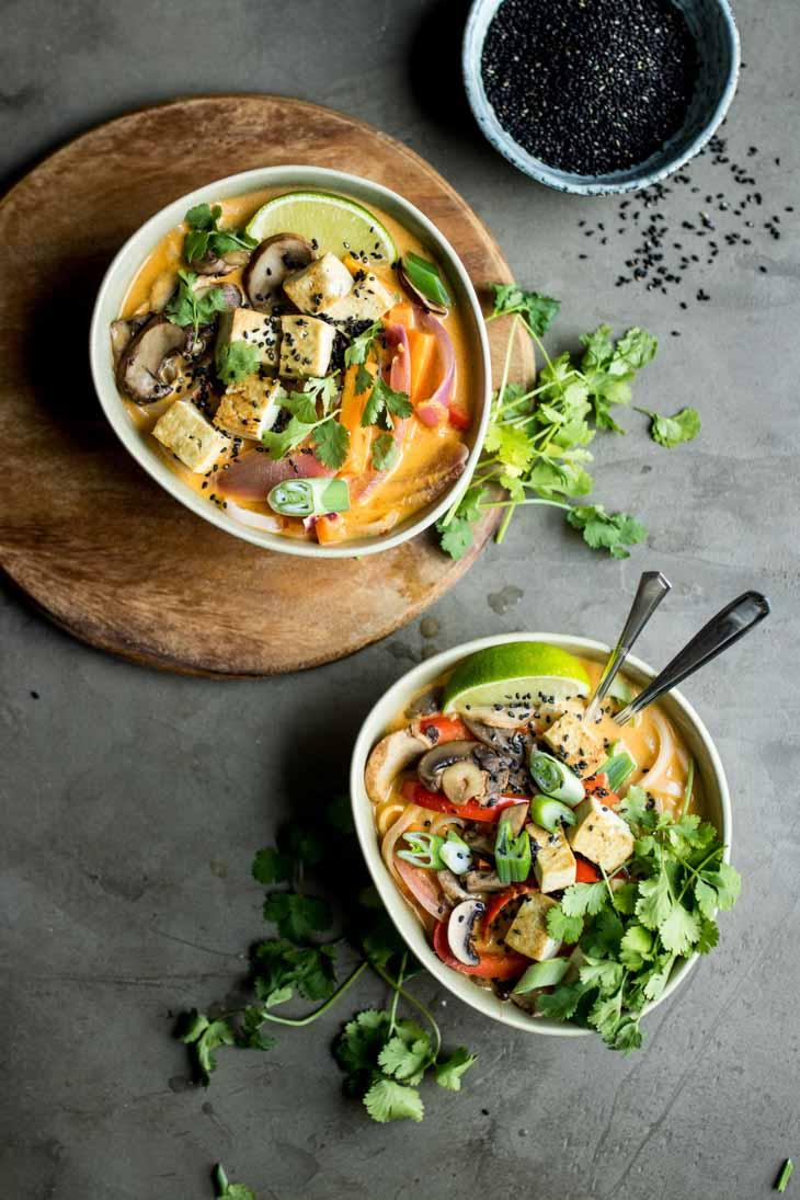 Lemongrass Coconut Noodle Soup Asian Soup Recipe