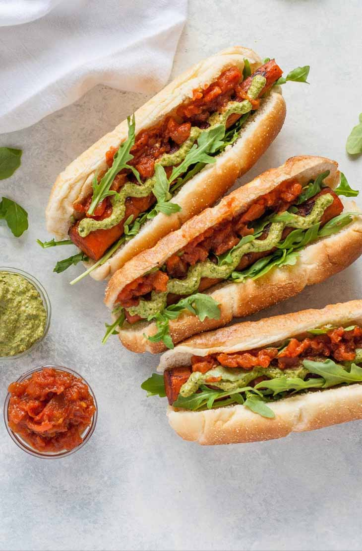 Balsamic Grilled Carrot Dogs Vegan barbecue Recipes