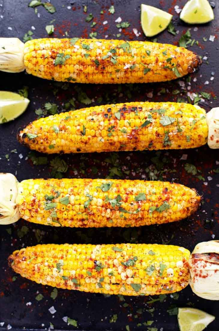 Grilled Cilantro, Lime Paprika Corn On The Cob Vegan bbq Recipes