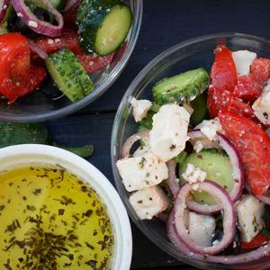 Vegan Greek Salad recipe salata greceasca de post