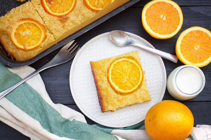 Vegan Orange Pie recipe Portokalopita prajitura cu portocale
