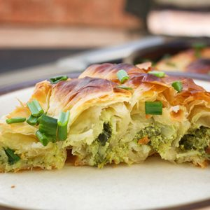 Vegan Spanakopita Greek Spinach Pie placinta de post cu spanac