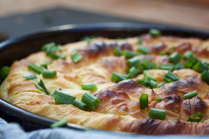 Vegan Spanakopita recipe Greek Spinach Pie pastry
