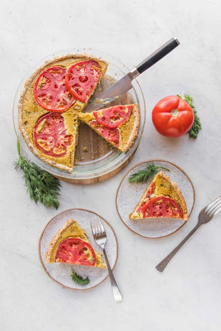 Easy Vegan Quiche (Gluten + Soy Free)