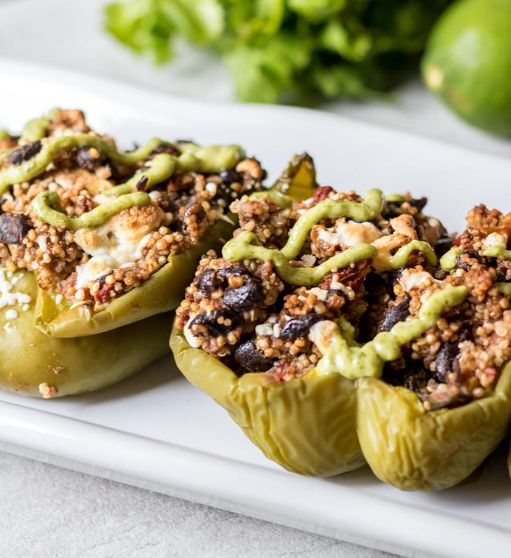 Vegan Tex Mex Stuffed Peppers