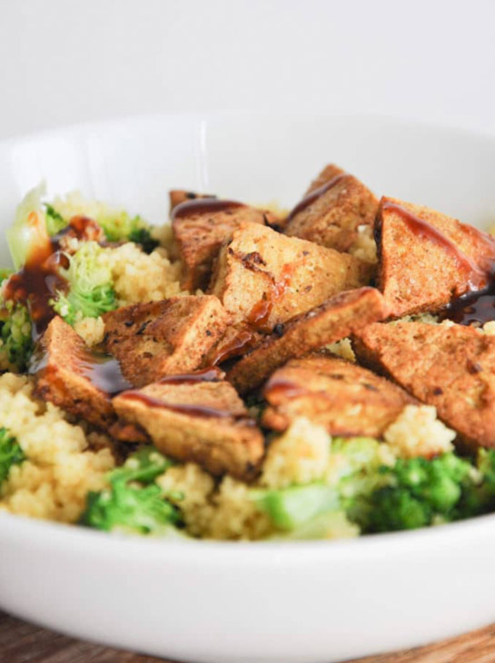 BBQ Couscous Bowl with Tofu