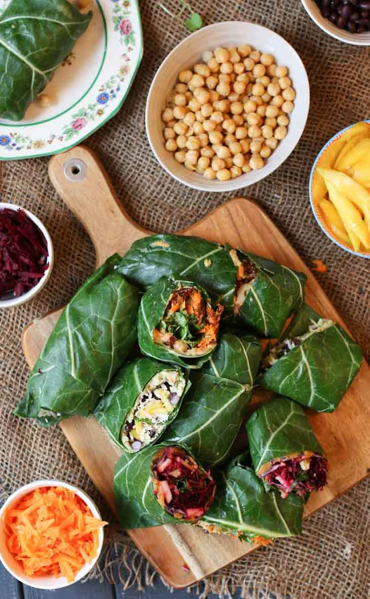 Gluten Free Vegan Collard Green Wraps