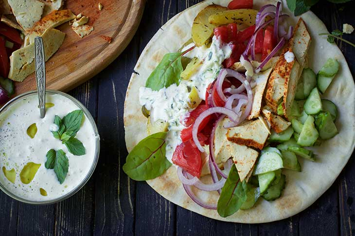 healthy Vegan Gyros Greek Wrap recipe