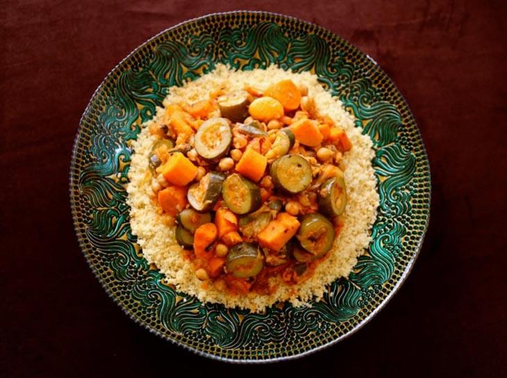 Moroccan-Style Vegetable Couscous vegan couscous recipes